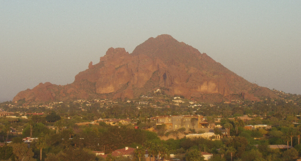 Camelback Mountain at Dusk in Phoenix and Scottsdale